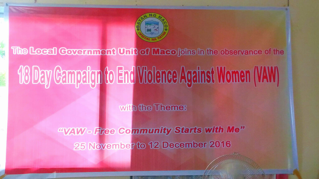 18 Day Campaign to End Violence Against Women