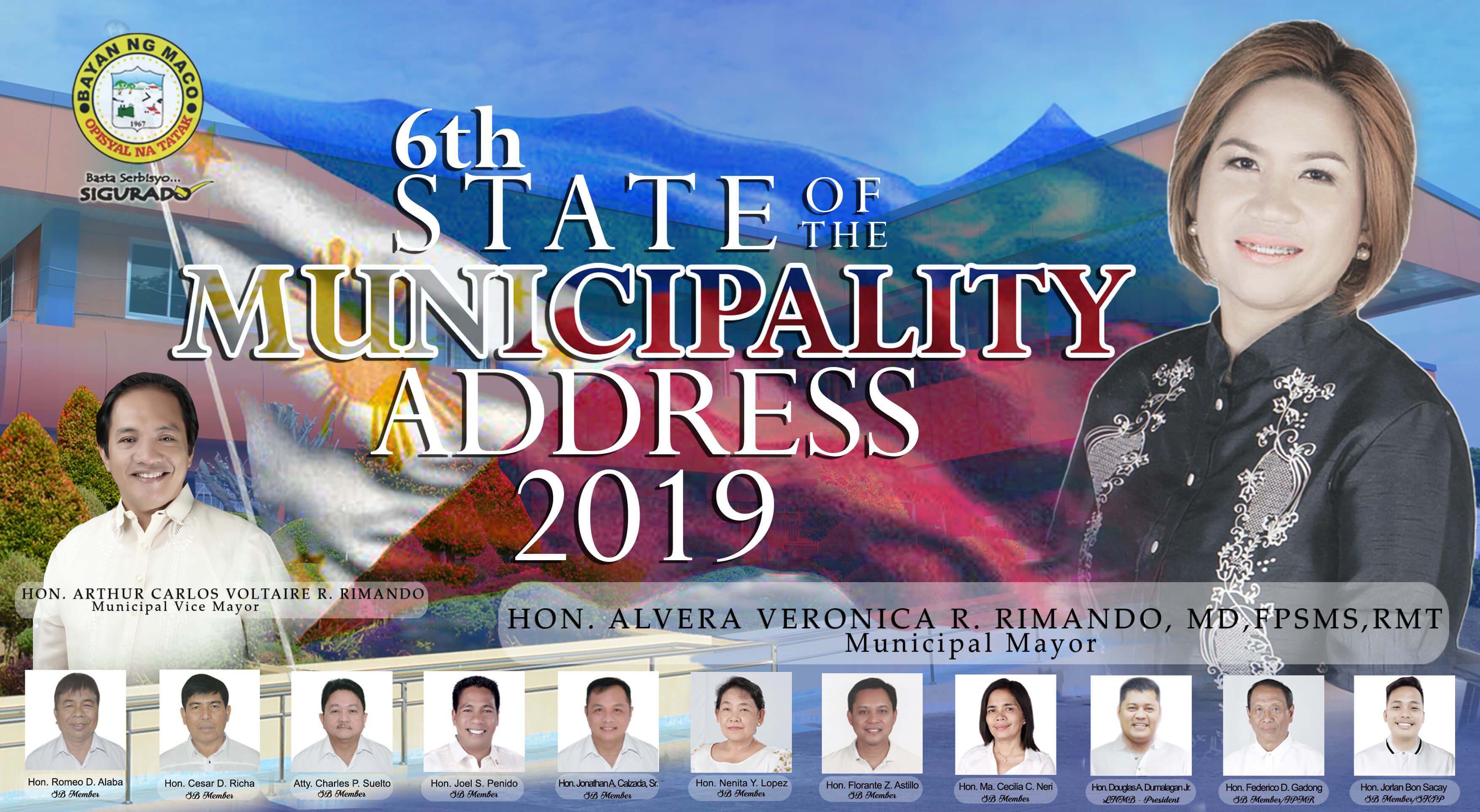 6th State of the Municipality of Hon. Alvera Veronica R. Rimando, M.D., FPSMS, RMT